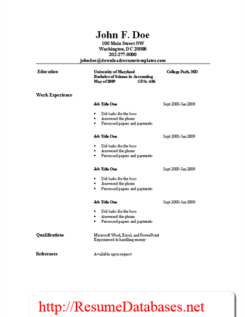 usable resume template