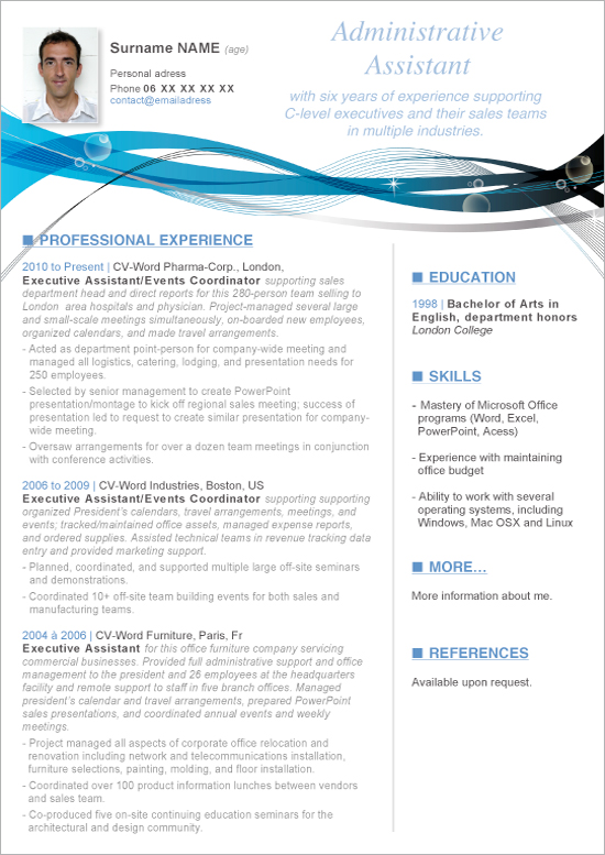 basic resume tempaltes free cover letters 6 - Professional Resume Samples In Word Format