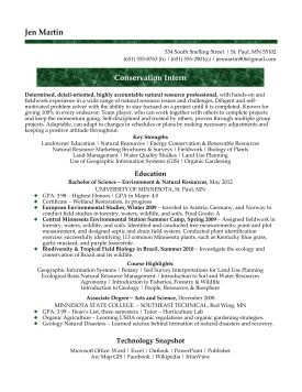 Conservation Medical Assistant Resume Samples