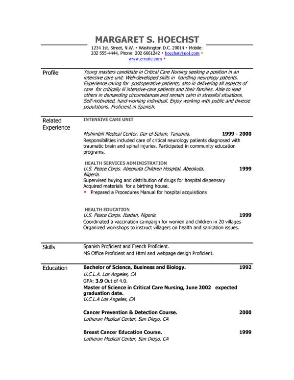 Free Medical Assistant Resume Templates Medical Assistant