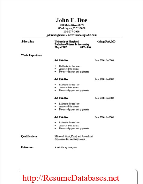 resume sles and guides resume templates