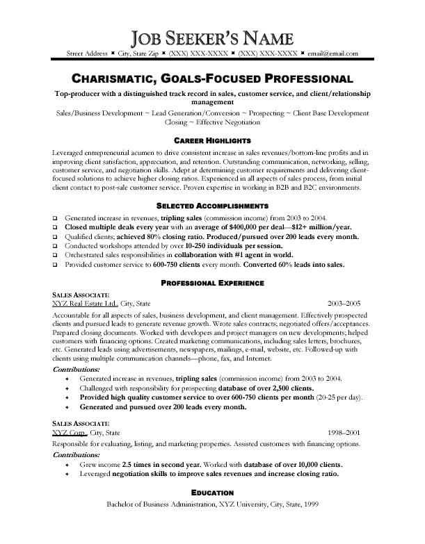 Sales-Resume-Template