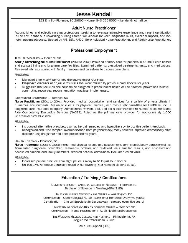 Nursing Resume Sample | Sample Resume And Free Resume Templates