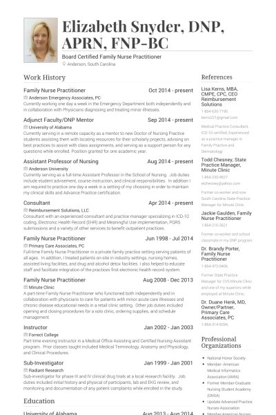 family nurse practitioner nurse resume templates cv examples