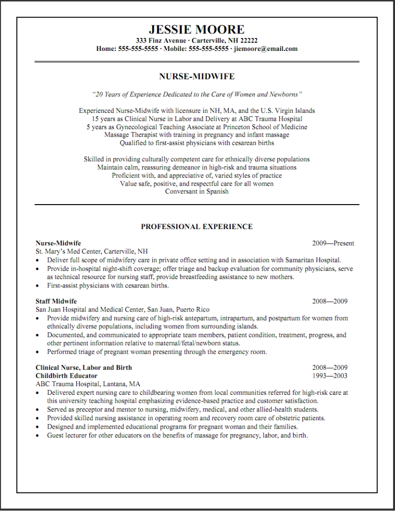 hospital nurse resume templates