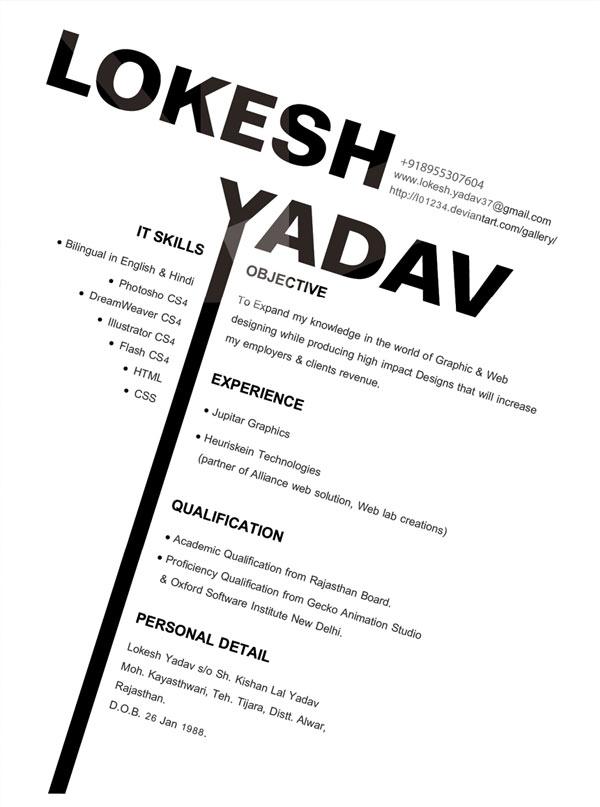 Graphic Design Resume Samples  Resume Templates
