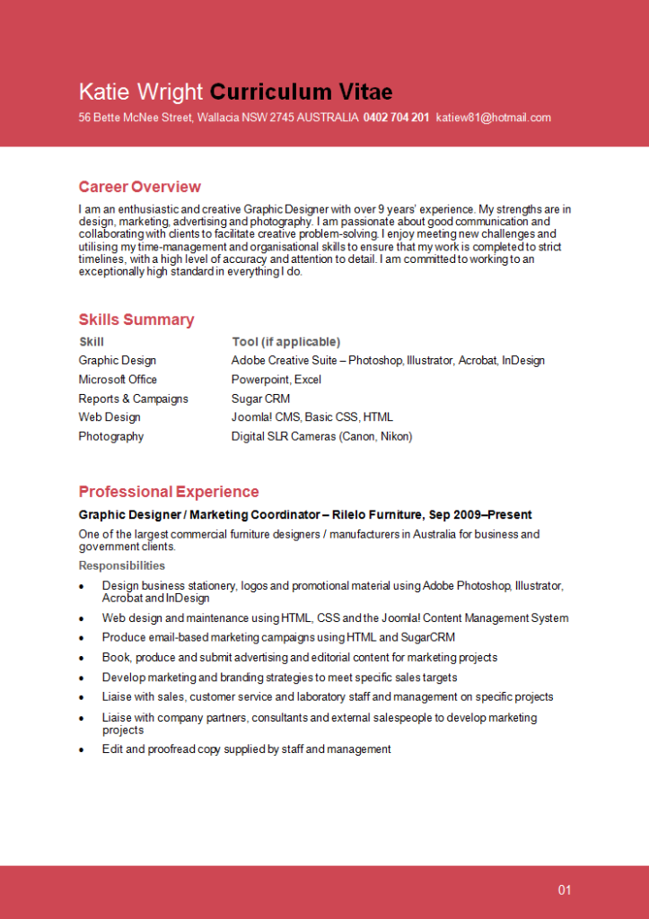 graphic design resume temaplates and examples 1 723 - Resume Templates For Graphic Designers