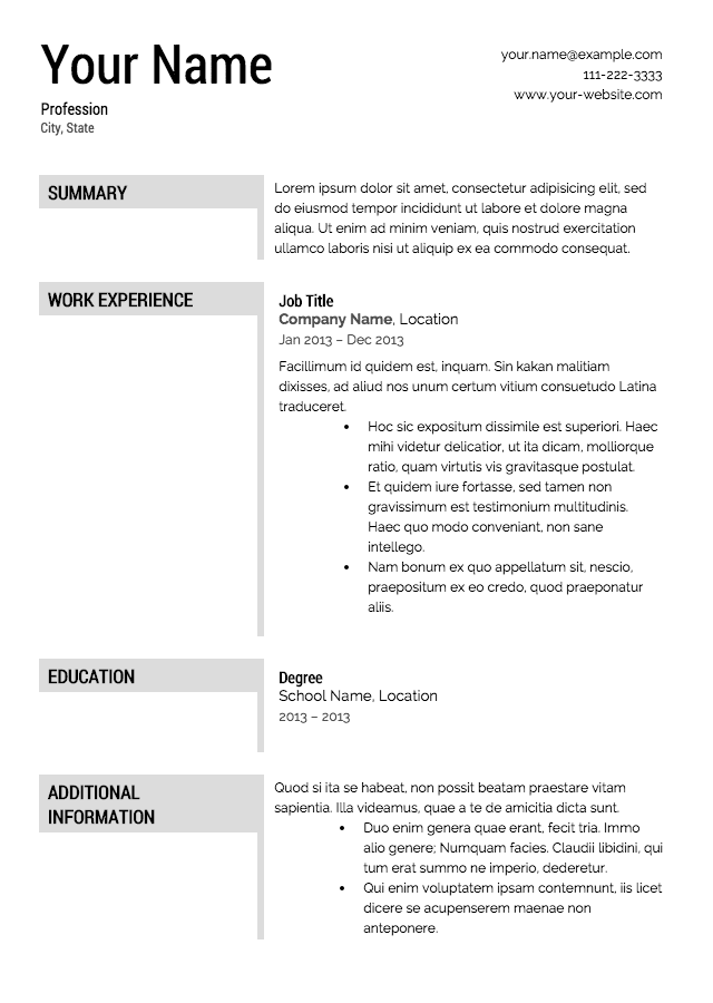 sales resume template professional