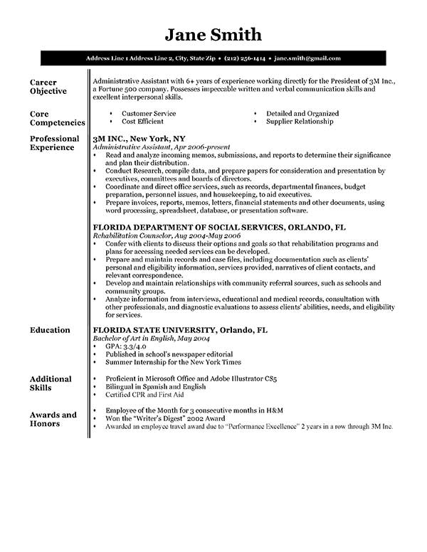 resume-template-sales-executive