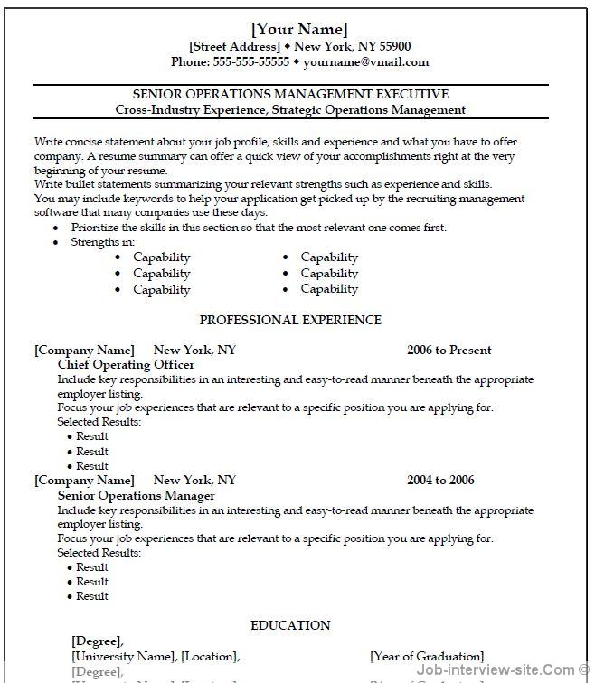 Resume Template For Ms Word 2007 from resumedatabases.net