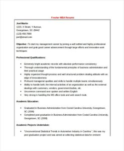 MBA-Finance-Fresher-Resume-Word-Format-template-printable ...