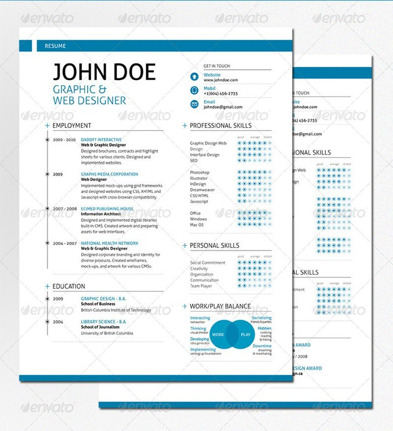 swiss style resume template printable resume pdf doc - Printable Resume Template